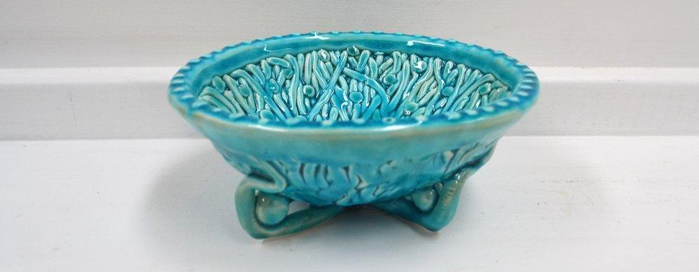 Aqua Dot Bowl  Tom Sommerville, glazed and fired ceramic  $175.00