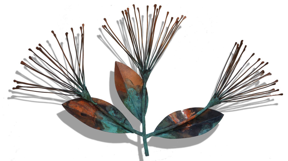 Pohutukawa  Sue Willis, copper wall sculpture  $995.00