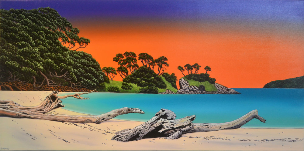 Tryphena Driftwood  Donna Massey, oils on canvas, 1500mm x 750mm  sold