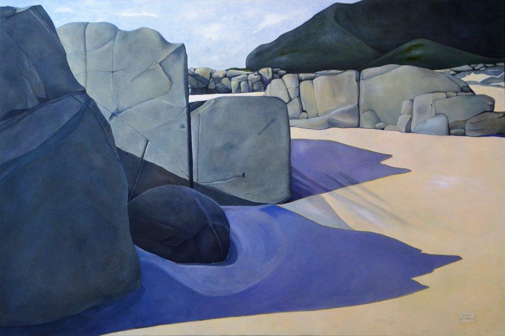 Ocean Beach, Whangarei  Jenny Bennett, oil on linen, 1500mm x 1000mm  $3,500.00
