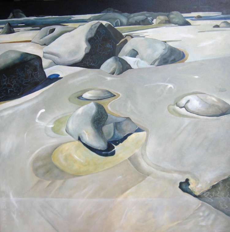 Whangapoua, Great Barrier Island  Jenny Bennett, oil on canvas, 900mm x 900mm  $2,350.00