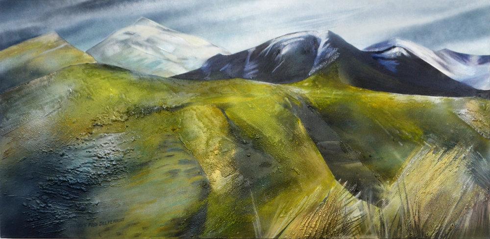 Dansy's Pass  Jill Perrott, mixed medias on canvas, 1220mm x 605mm  $2,300.00