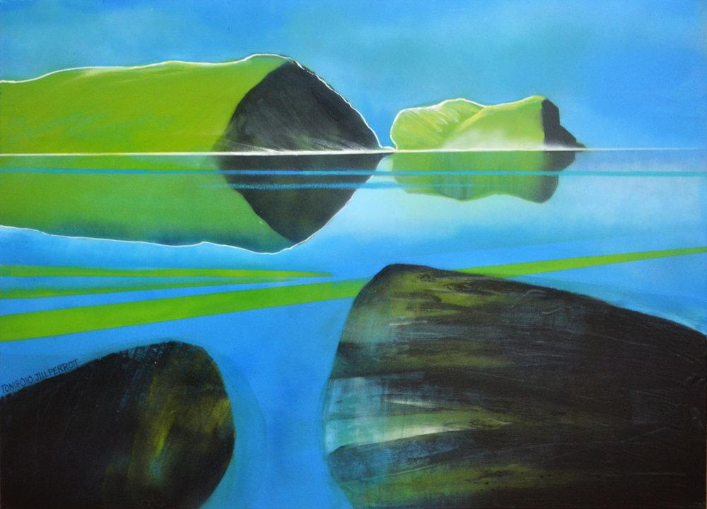 Tongoio  Jill Perrott, mixed medias on canvas, 1020mm x 765mm  $1,950.00