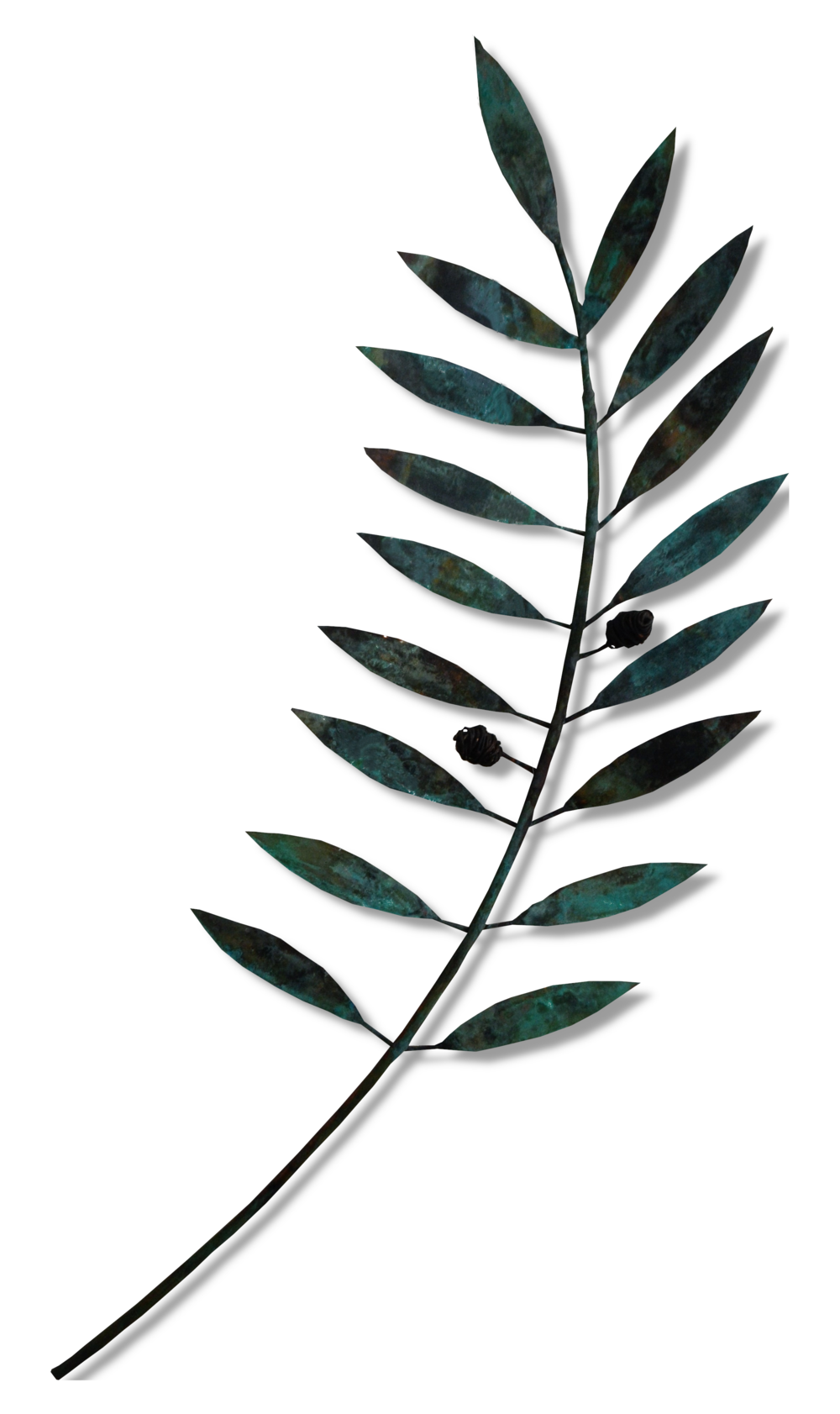 Large Olive Branch  Sue Willis, copper wall sculpture  $495.00