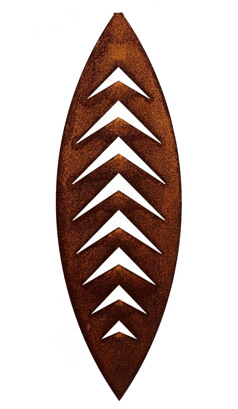 Hanging Swivel Leaf  Grounded Art NZ, corten, 400mm  $90.00