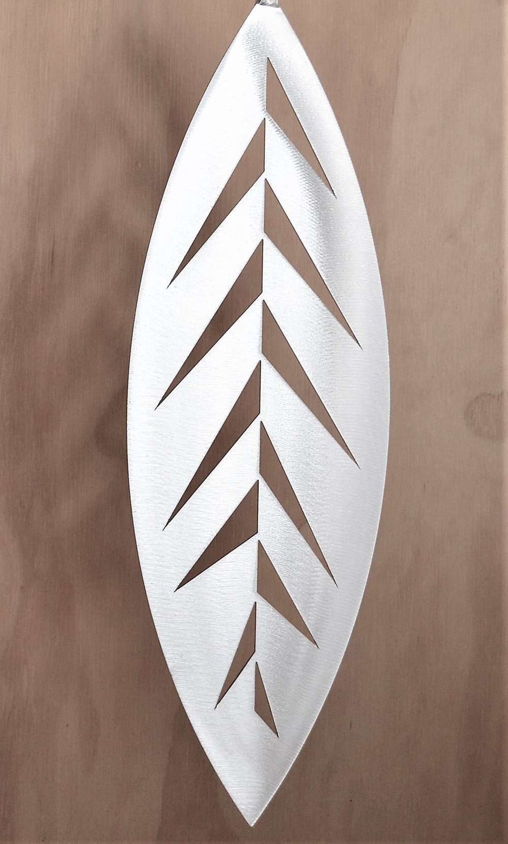 Hanging Swivel Leaf  Grounded Art NZ, aluminium, 400mm  sold