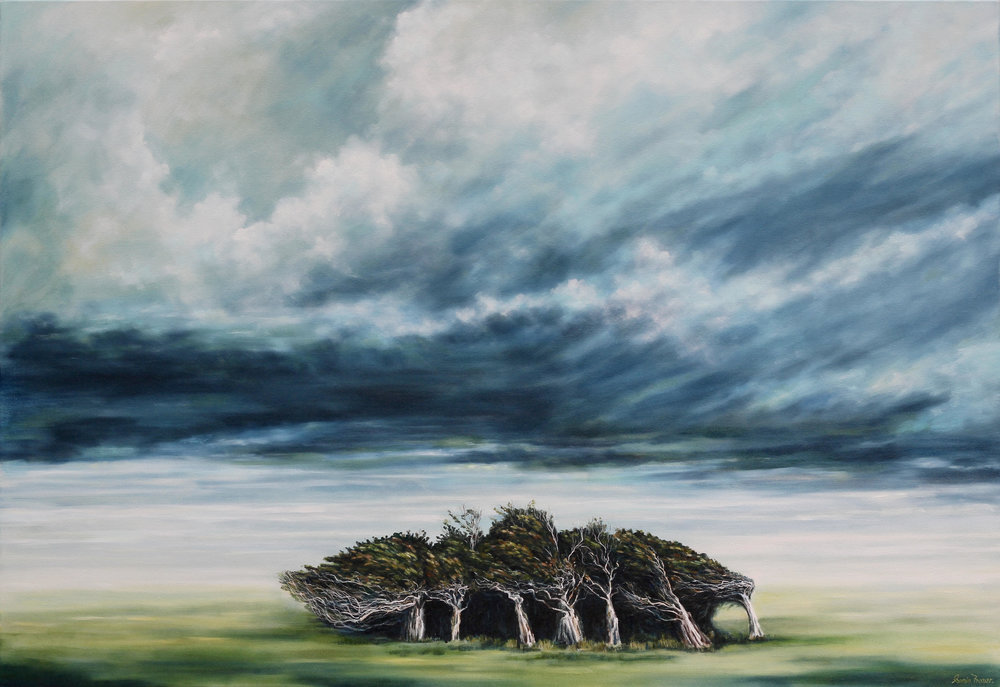 Lament  Sonia Fraser, oil on canvas, 840mm x 1220mm  $3,700.00