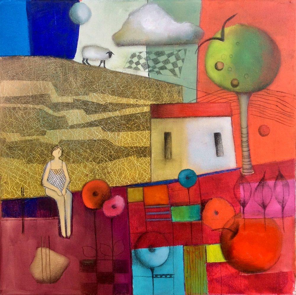 Springtide  Dalene Meiring, oils on canvas, 500mm x 500mm  $1,200.00