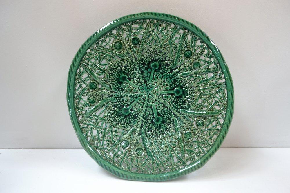 Native Green Platter  Tom Sommerville, glazed and fired ceramic  $245.00