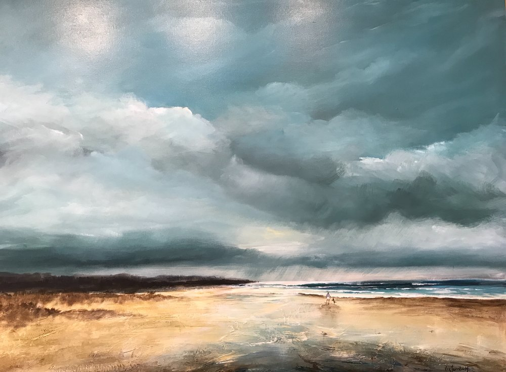 Sea Change  Liz Turnbull, acrylic on canvas, framed, 1060mm x 800mm