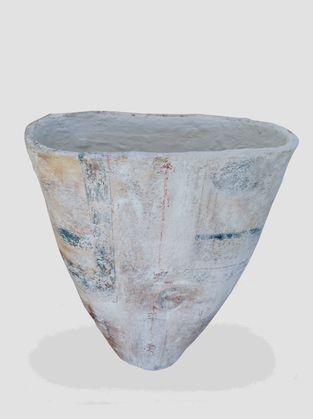 Earthy Vessel  John Philips, artis fiberclay, indoor/outdoor (has drainage hole at bottom)  $750.00
