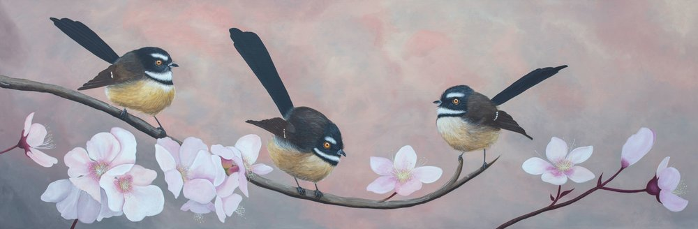 The Like Minded  Claire Erica, acrylic on canvas, 1502mm x 510mm  $3,250.00