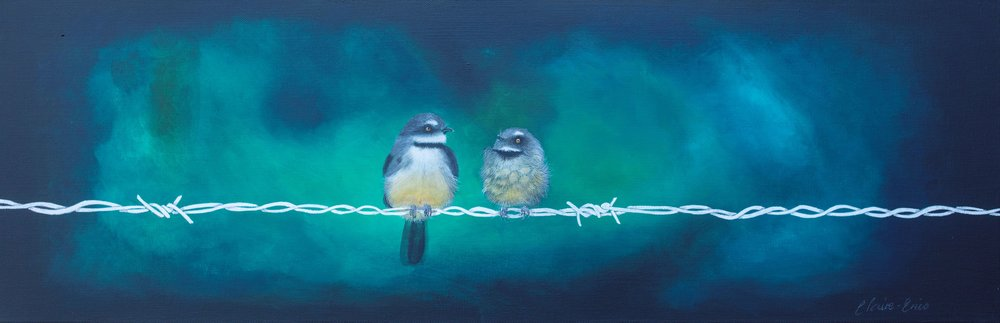 Teach Your Child Well  Claire Erica, acrylic on canvas, 765mm x 250mm  $950.00