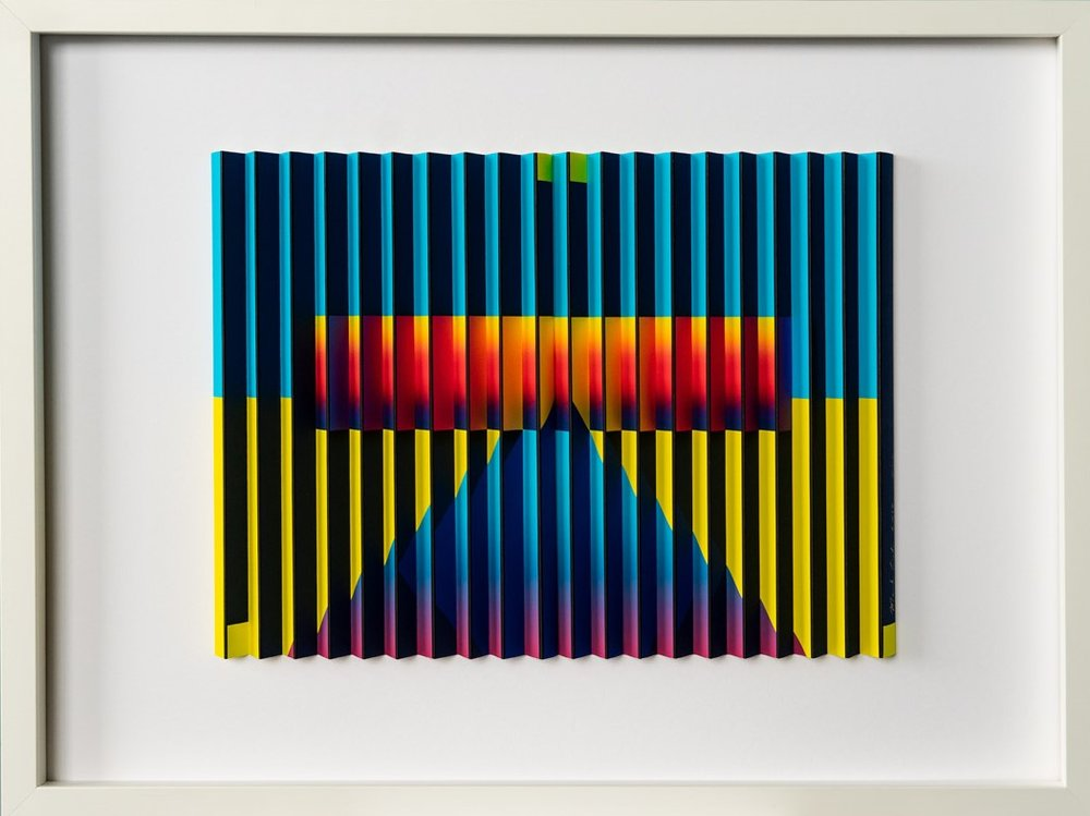 Perspectives I  Mark Cowden, limited edition multiplane work #8/10, 640mm x 490mm inc frame  $890.00