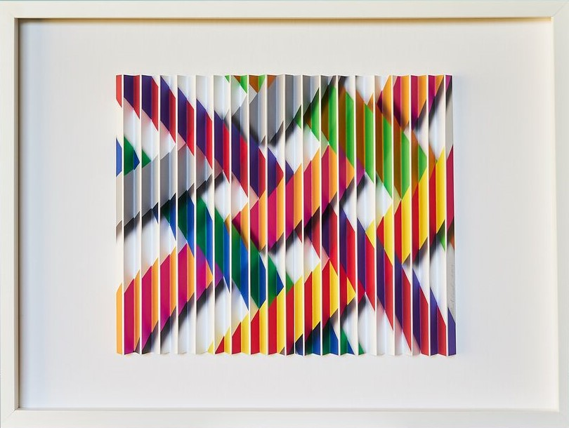 Ribbons  Mark Cowden, limited edition multiplane work #3/10, 640mm x 490mm inc frame  sold