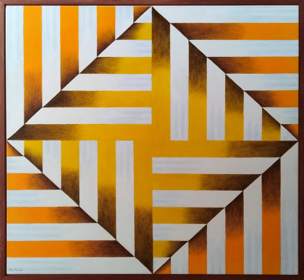 Oranges and Lemons  Pat Nielson, acrylic on canvas, framed in Matai, 1060mm x 1060mm (inc. frame)  $1,890.00
