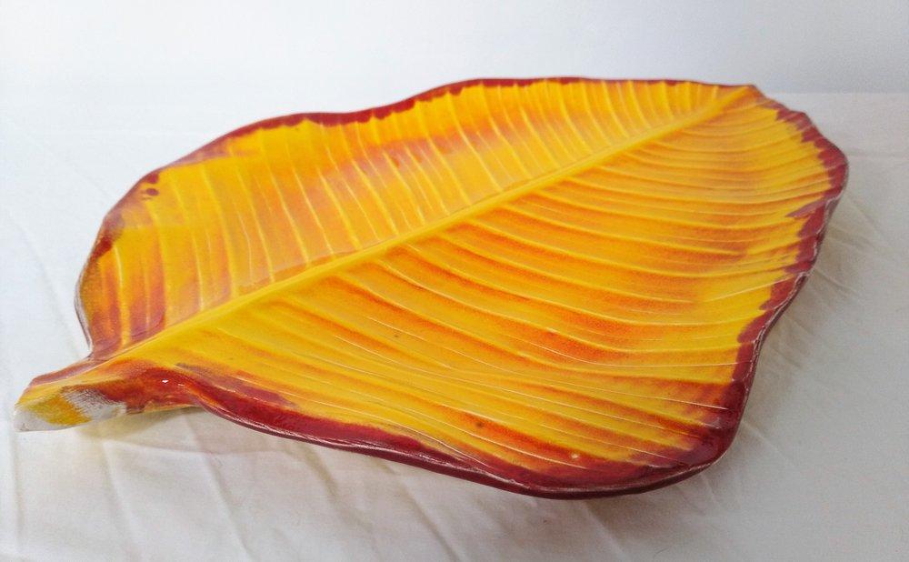 Leaf Platter  Tom Sommerville, glazed and fired ceramic  $175.00