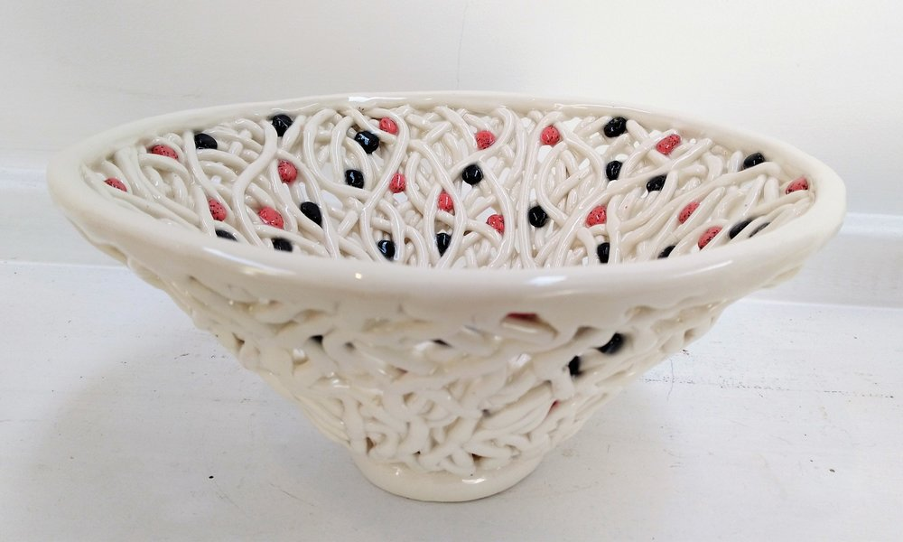 Pink & Black Seed Pearl Bowl  Tom Sommerville, glazed and fired ceramic  $195.00
