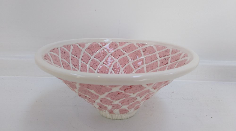 Pale Pink & Cream Bowl  Tom Sommerville, glazed and fired ceramic  $195.00