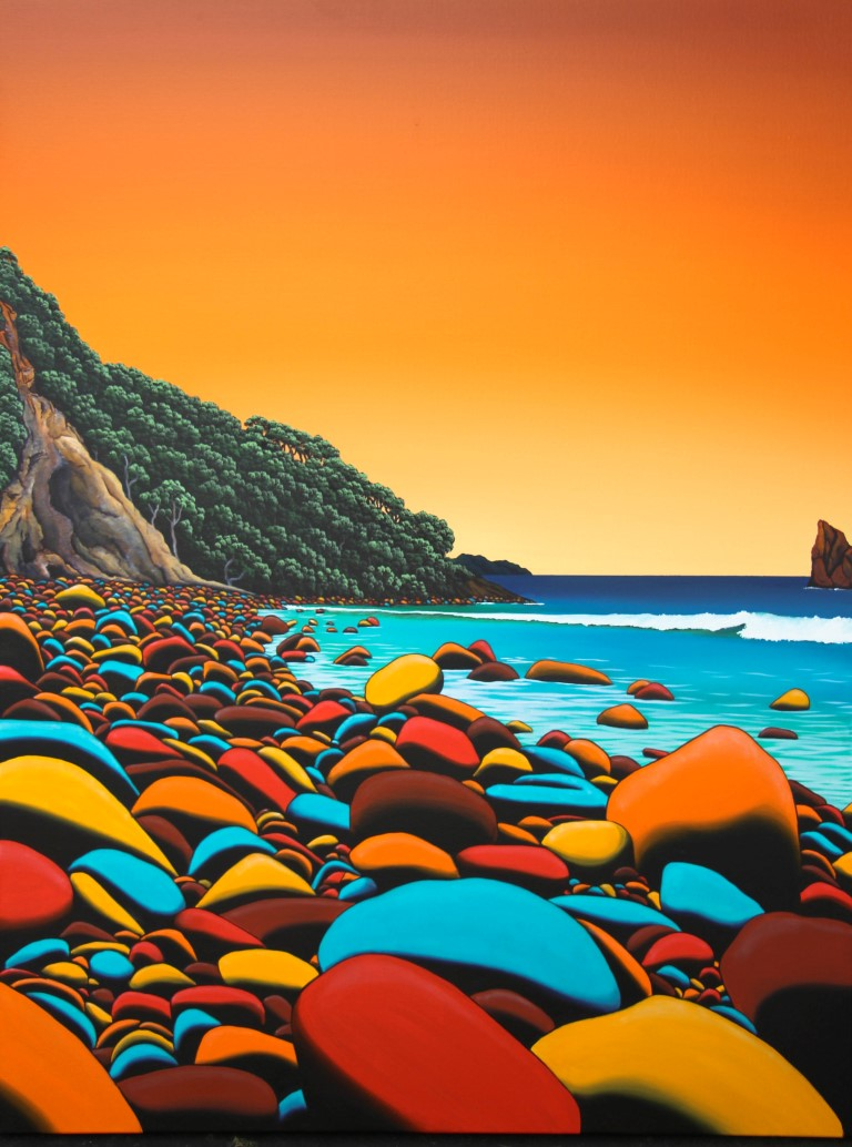 Awana Sunrise (click to extend)  Donna Massey, oils on canvas, 1200mm x 900mm  sold