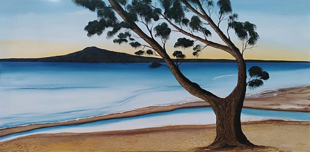 Peaceful Tide  Claire Erica, acrylic on canvas, 1200mm x 600mm  $2,650.00