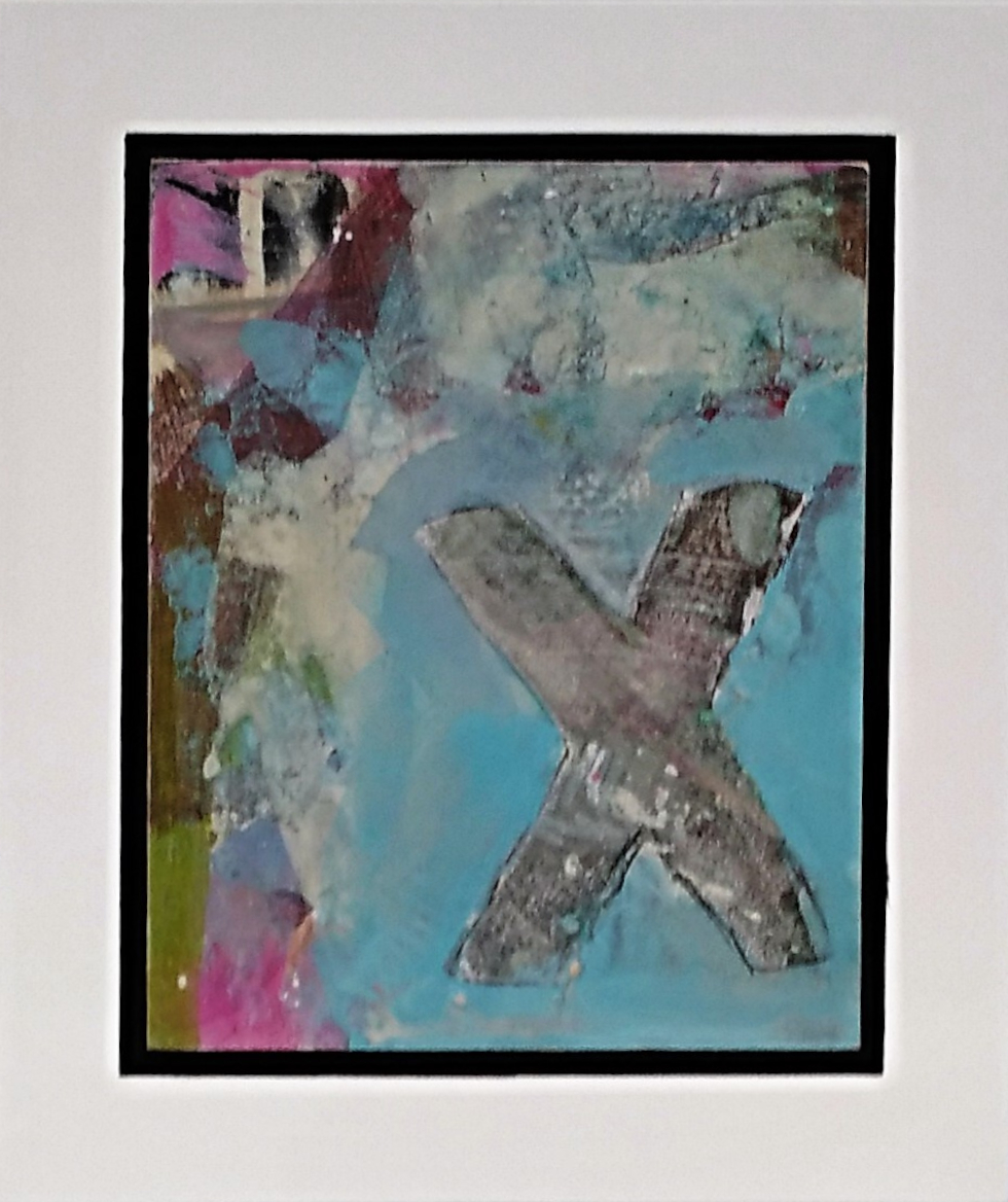 Revelation I  Jody Hope-Gibbons, mixed media on board, framed, 235mm x 200mm  $240.00   or    enquire    for multiples in the series