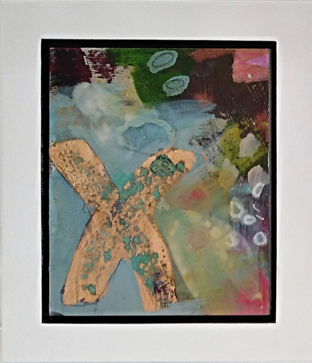 Revelation II  Jody Hope-Gibbons, mixed media on board, framed, 235mm x 200mm  $240.00   or    enquire    for multiples in the series