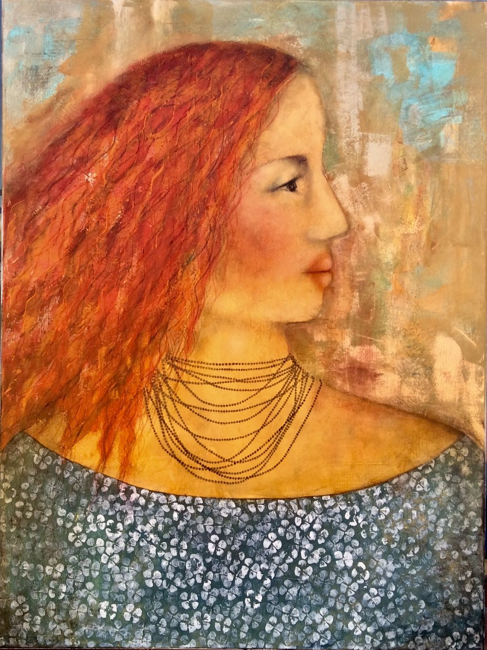 Nineteen Strings  Dalene Meiring , oils on canvas, 765mm x 1020mm  $3,500.00