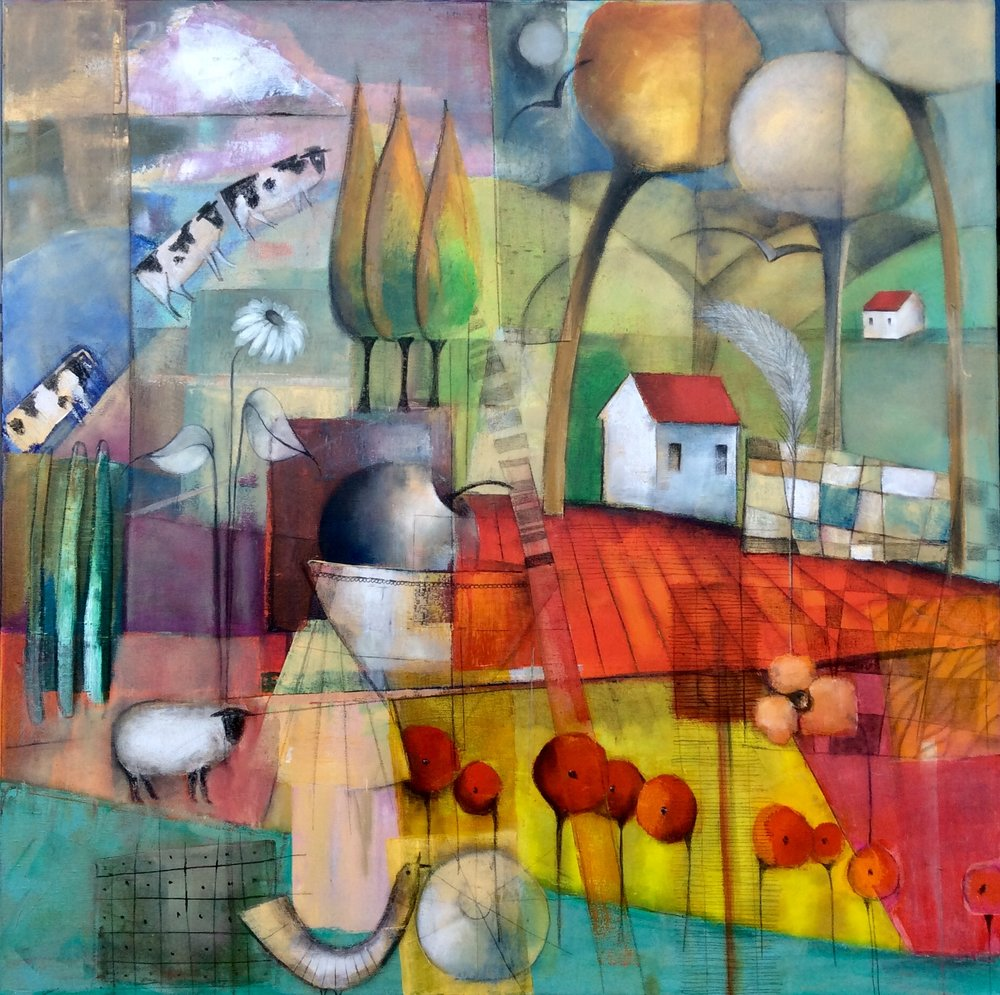 End Of The Season  Dalene Meiring , oils on canvas, 1020mm x 1020mm  $3,900.00