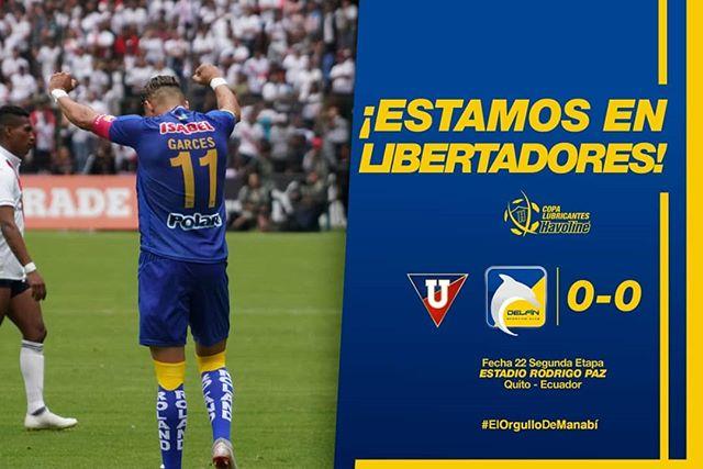 FINAAAL DEL PARTIDO💛💙🐬 #LDU 0 #DelfínSC 0 Hola @libertadores, estamos de vuelta👋 ¡POOOOOOR MANTA Y MANABÍ!💛💙