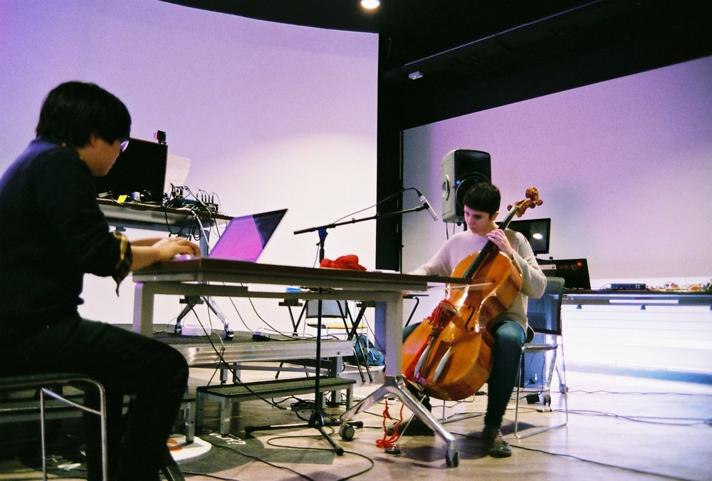 qb - , is Gaia Blandina and Lynette Quek., explores sonic textures., utilises tools in any way and form., create, interact, have fun., click here to have a look and a listen.