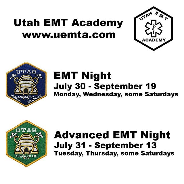 Enrollment is open for our July EMT and Advanced EMT courses. Sign up before classes are full! Working in EMS, Fire and hospitals our students are our best coworkers. Start your career here | www.uemta.com