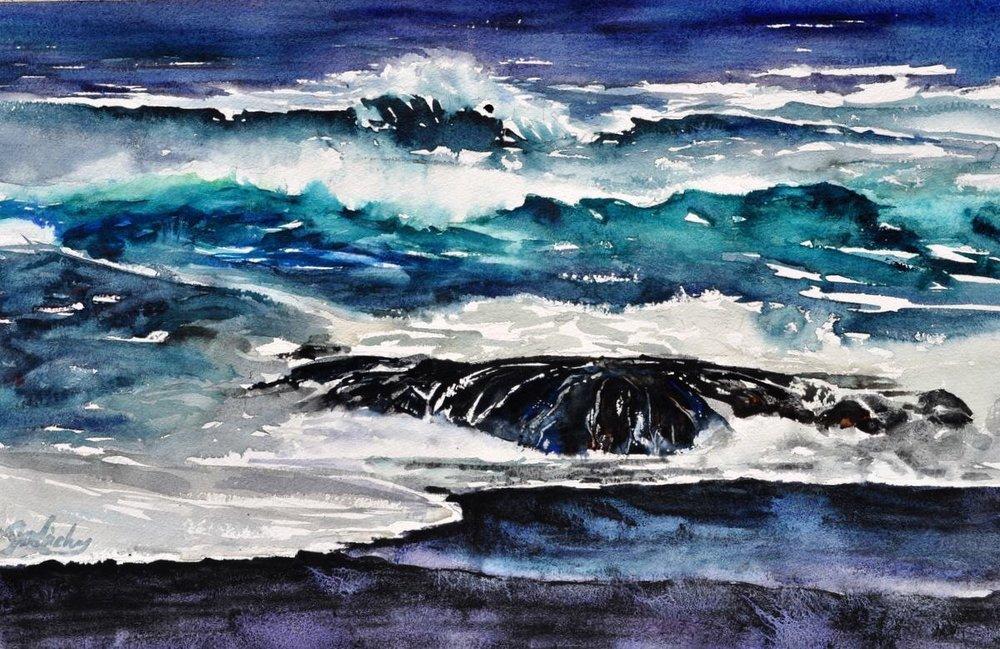 Black Sand Beach, McKerricher, Sold