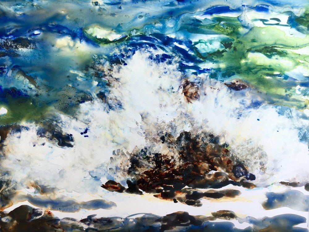 Splash, Watercolor on Yupo