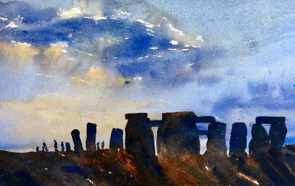 """Stonehenge (15""""x11"""")"""