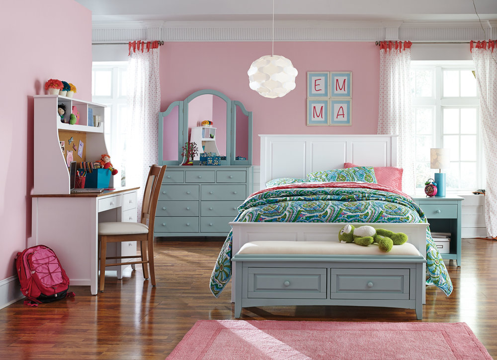 Whitewood Children Bedroom Snow white and Sea mist