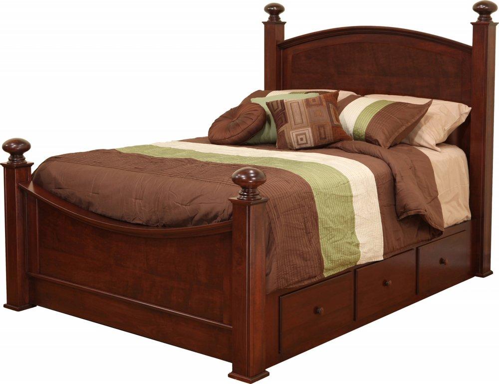 Luellen Bed with Wood Headboard