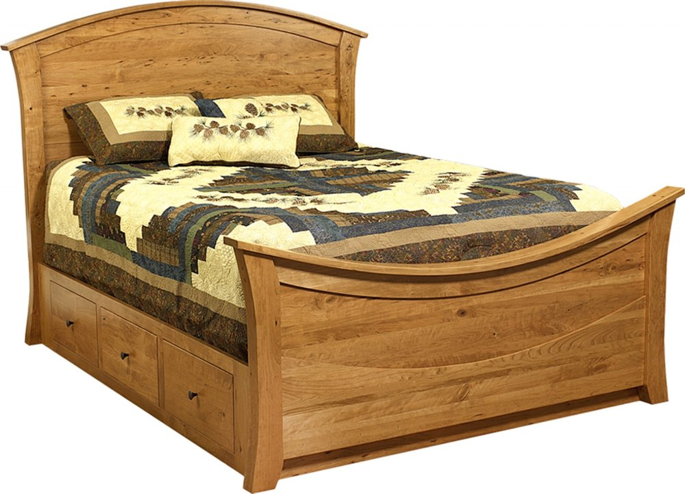 Rainbow Bed with Wood Panel