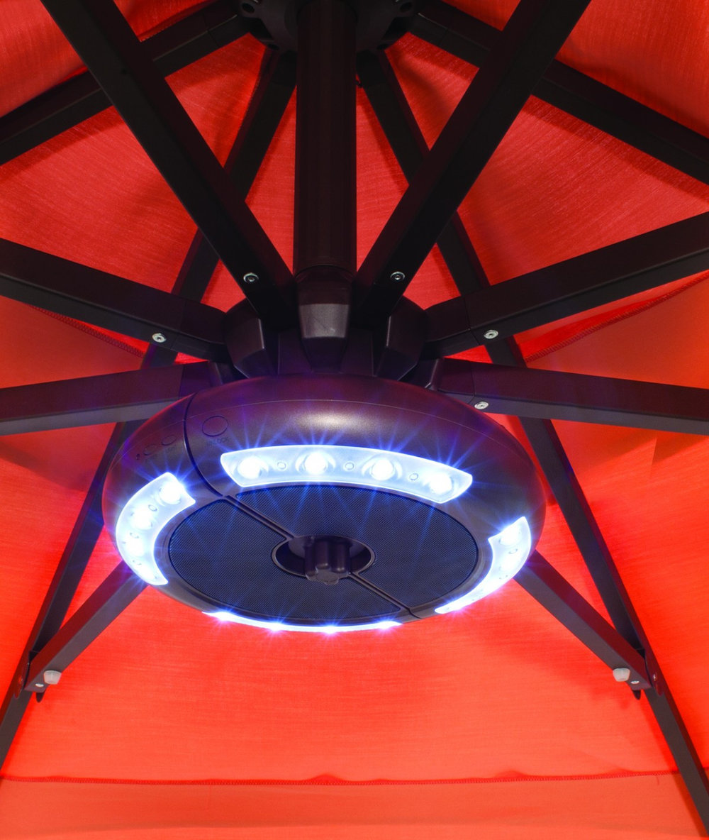 The LUNA - Umbrella Light with Bluetooth Speaker