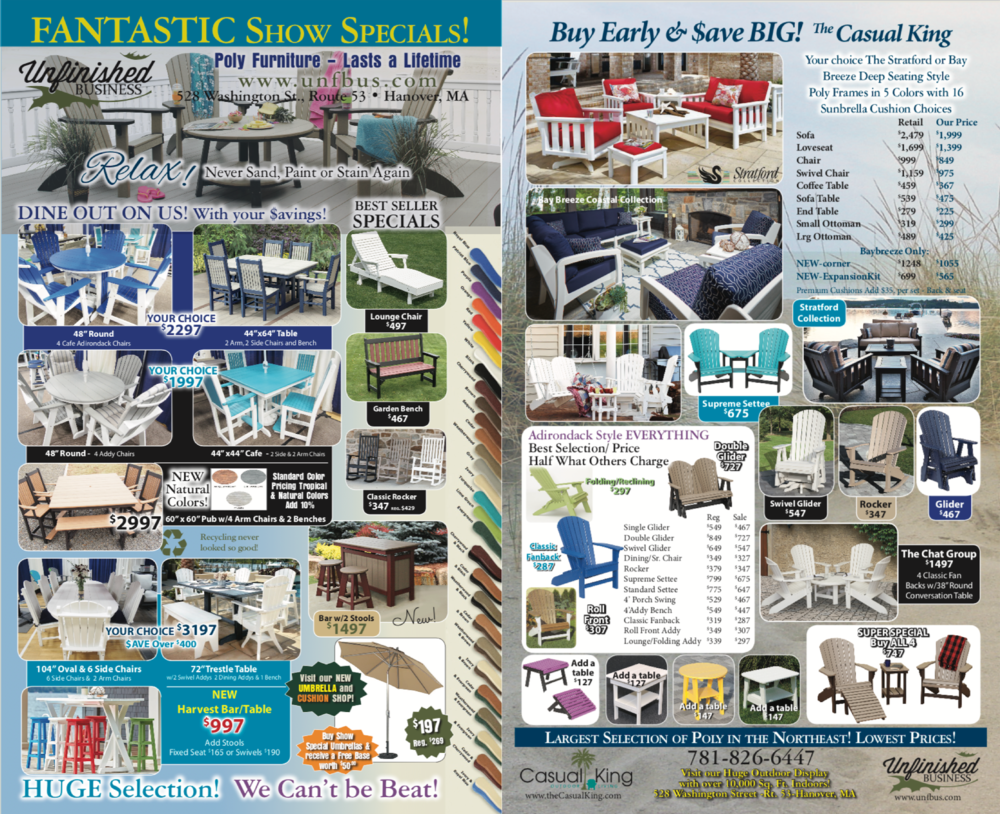 Current Sale Flyer - VISIT US AT UPCOMING HOME SHOWS