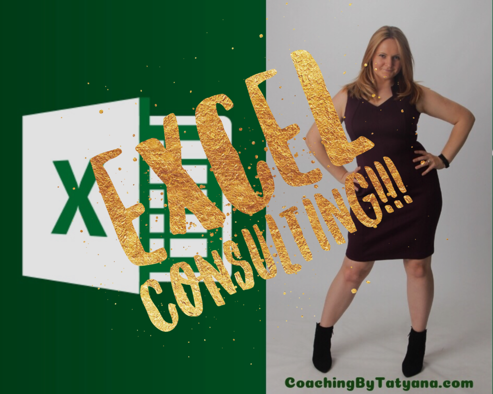 Excel Consulting - Whether you are an individual or a manager seeking personalized help for your department. Custom Excel coaching or a workshop could prove to be priceless.