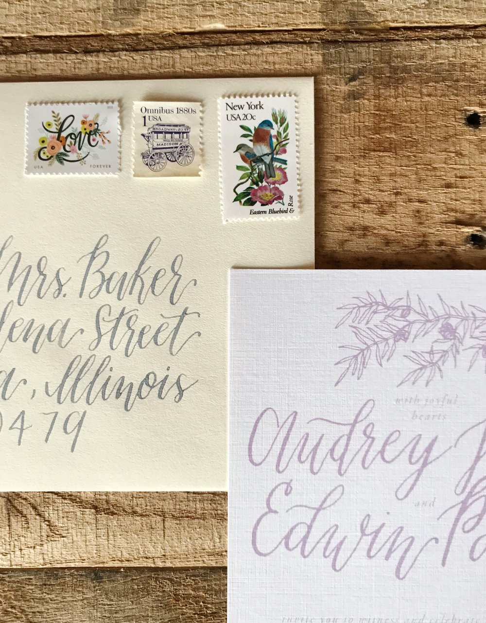 Envelope Addressing - Adding elegance and beauty to any invitation suite, stylized script gives the perfect finishing touch before each invitation reaches your guest.