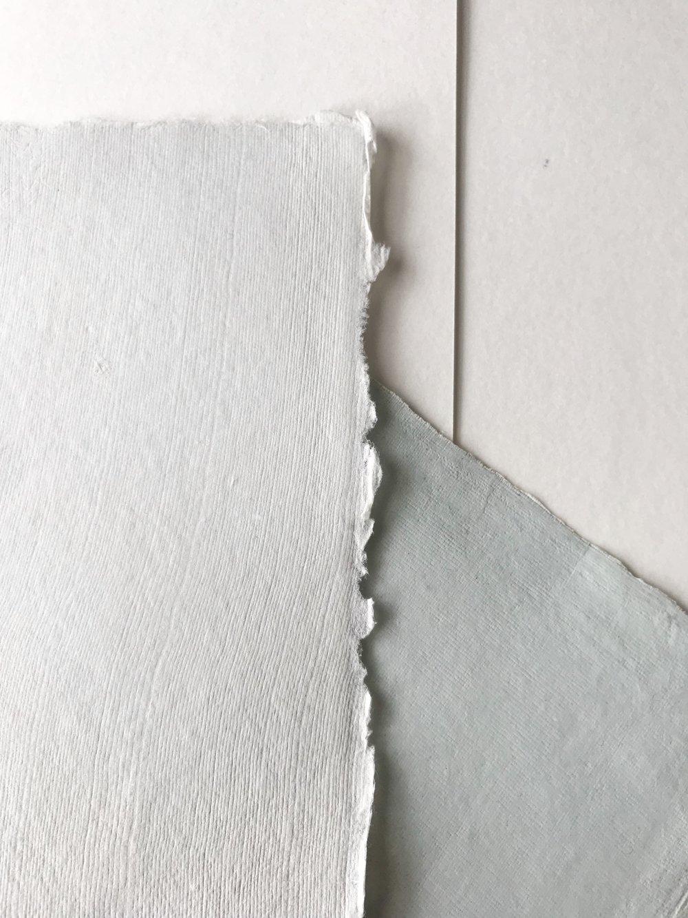 Cool tone handmade paper