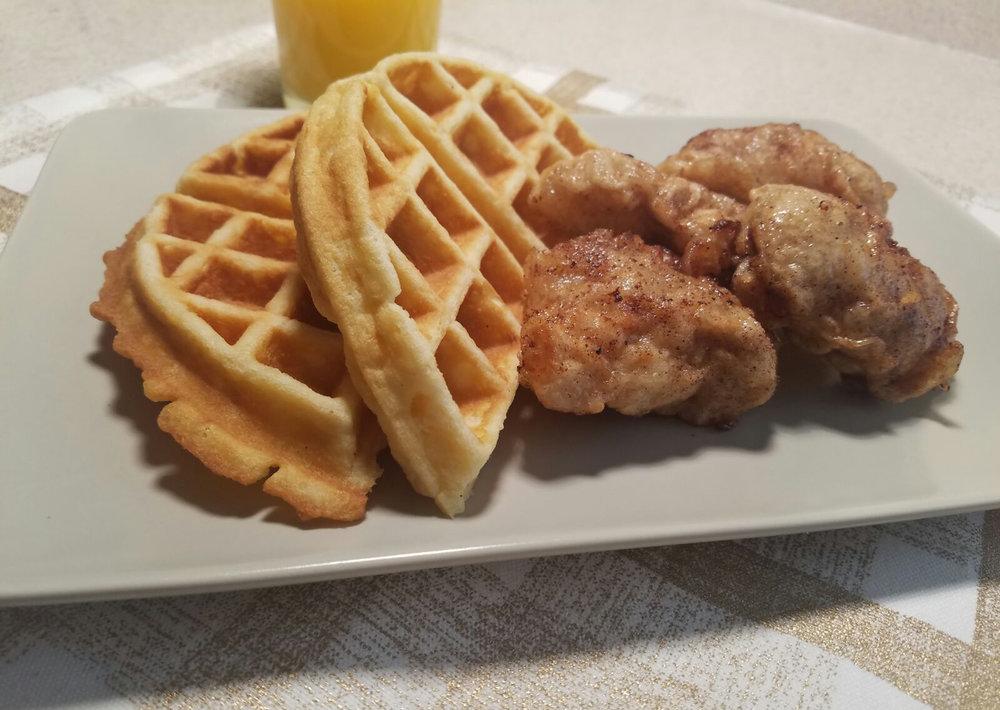Cinna Maple Glazed Chicken and Waffles