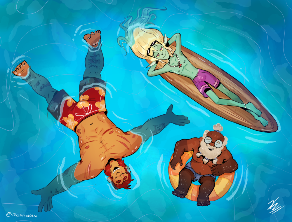 """The Adventure Zone - Beach Day"" Illustration"