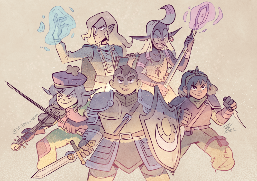 Dungeons and Dragons Squad Illustration