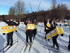 Raising awareness at Ski for Women