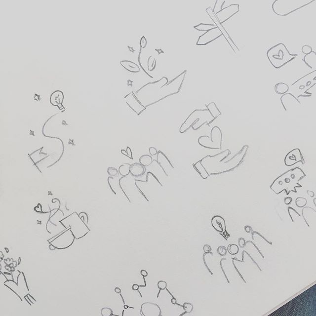 Back to basics for iconography set for #livingsober always a challenge to strike the right balance between unique yet recognisable. #icondesign #illustration