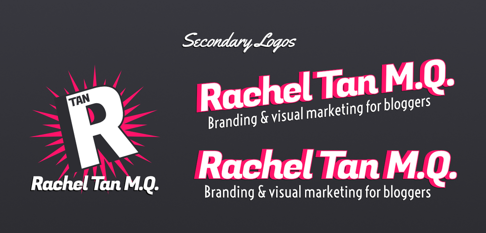 Secondary logos for RachelTanMQ.com