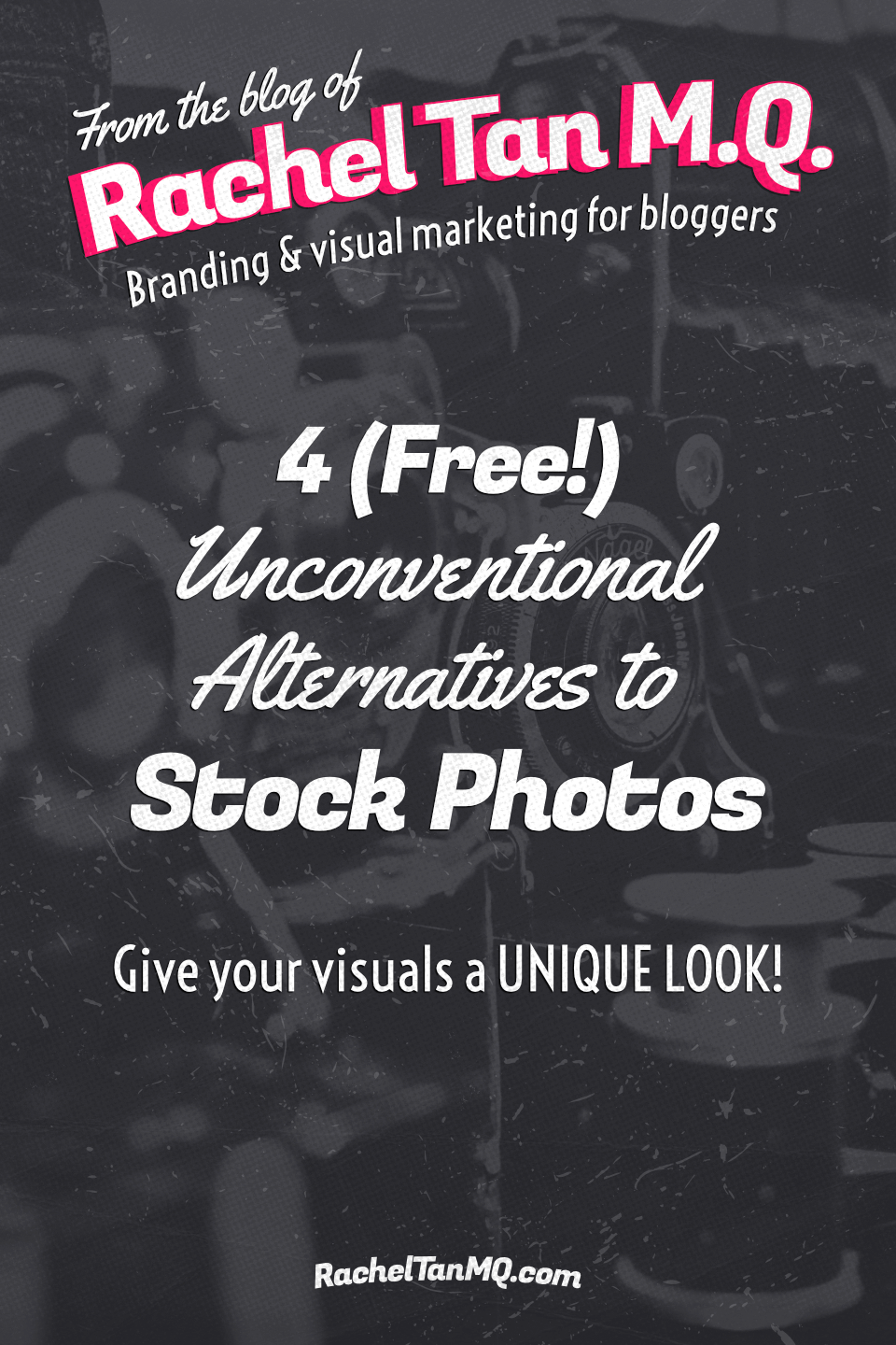 Sick of generic stock photos? Give your blog visuals and social media graphics a unique look with these 4 (free!) unconventional alternatives to stock photos! #stockphotos